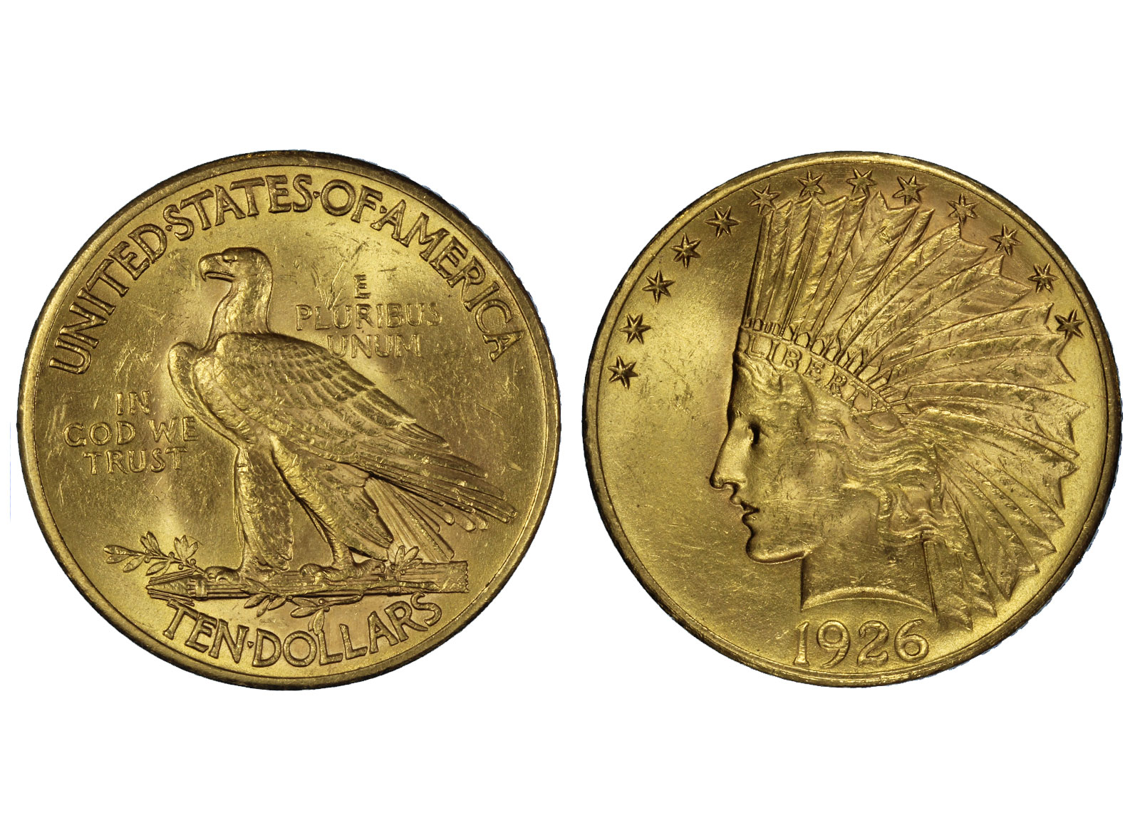 Indiano 10 dollari gr. 16,71 in oro 900/000