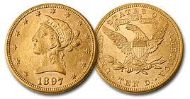 Liberty 10 dollari gr. 16,71 in oro 900/000