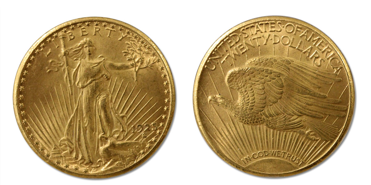 20 dollari S.Gaudens gr. 33,43 in oro 900/000