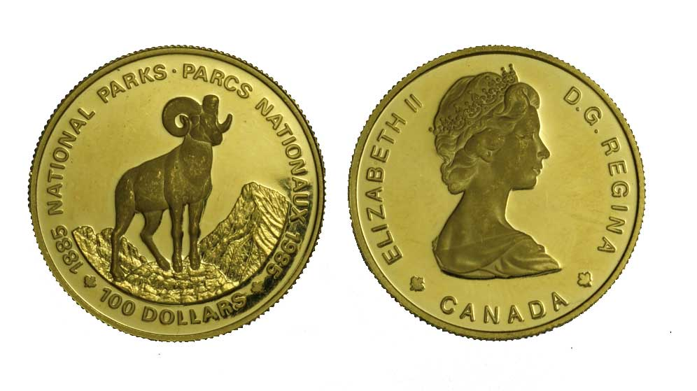 """National Parks"" - 100 dollari gr. 16,96 in oro 917/000"
