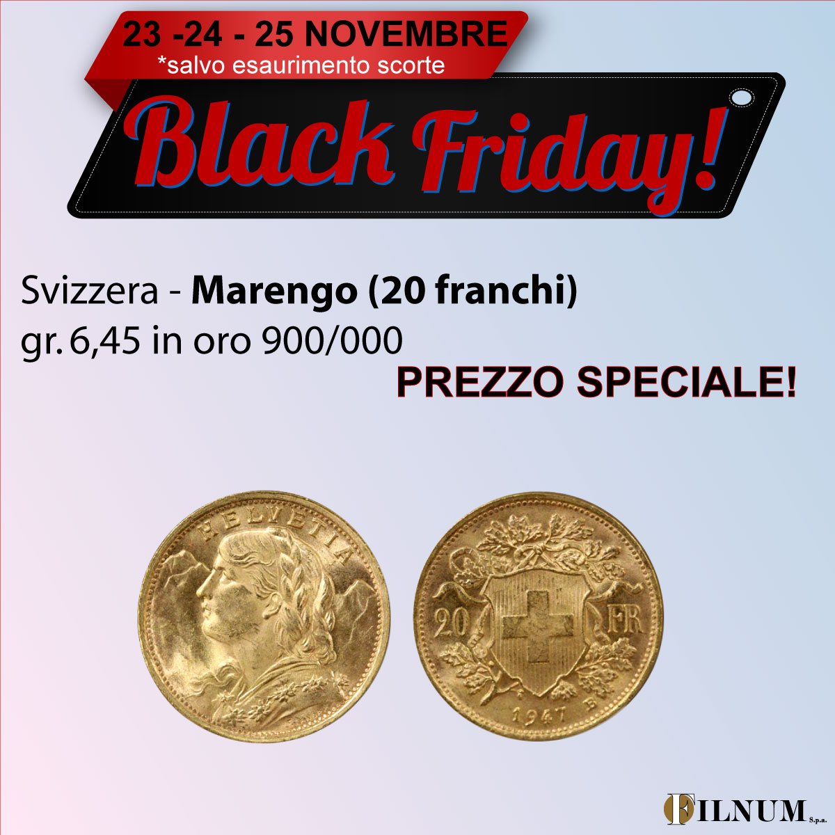 Marengo - 20 franchi gr. 6,45 in oro 900/000 - BLACK FRIDAY!!
