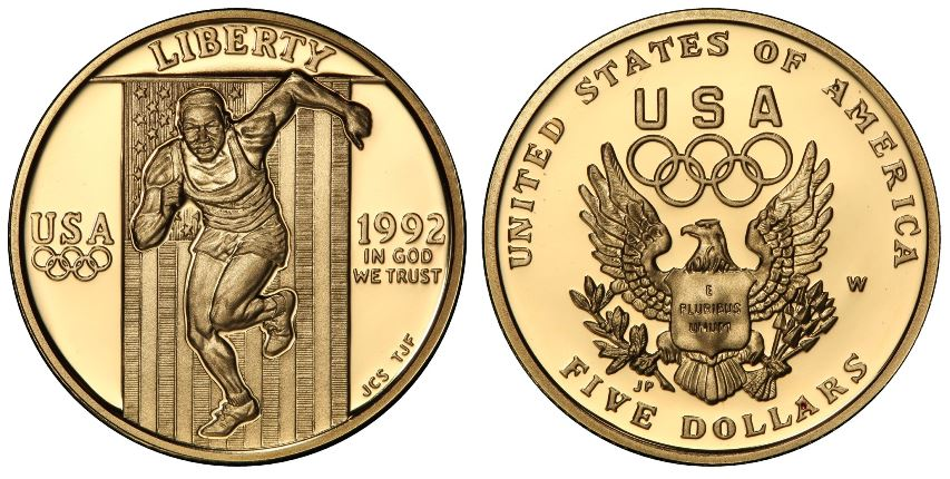 Olimpiadi di Atlanta - 5 dollari gr. 8,36 in oro 900/000