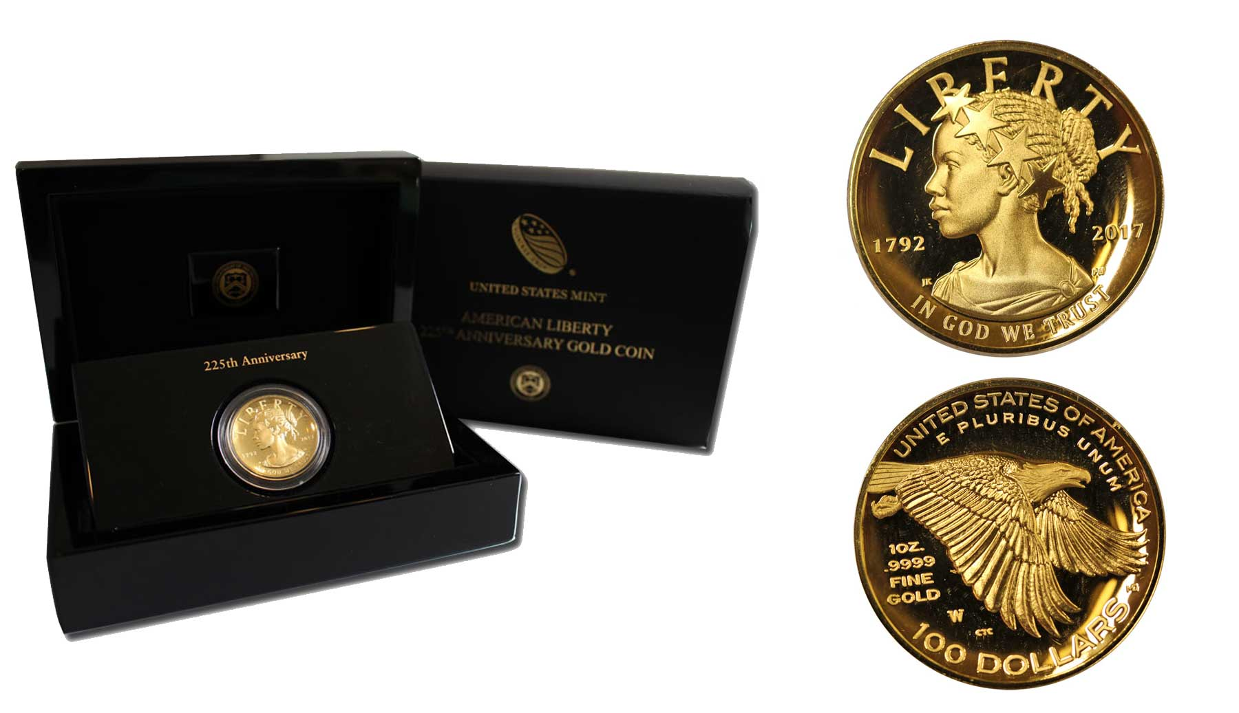 """Lady Liberty"" - 100 Dollari gr. 31,103 in oro 999/000"