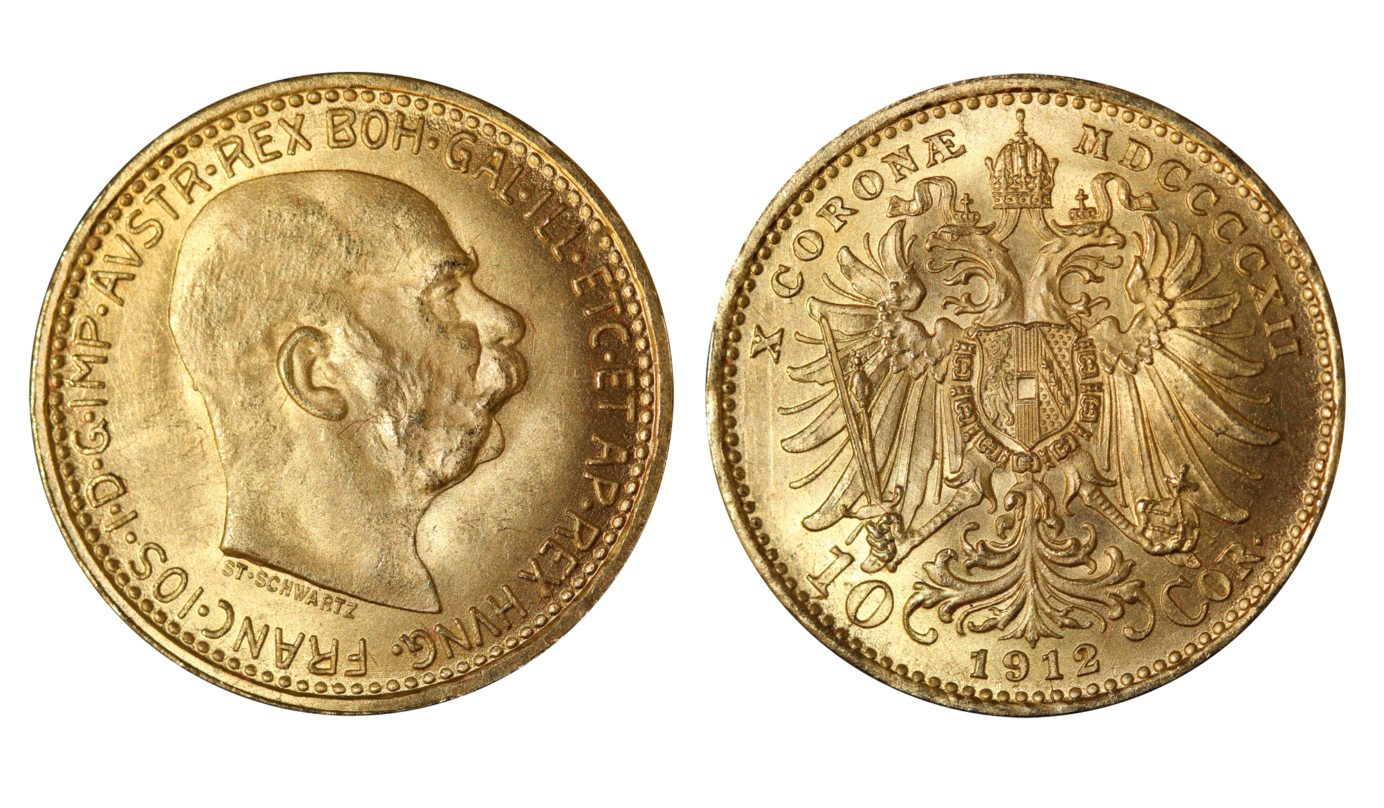 10 corone gr. 3,39 in oro 900/000