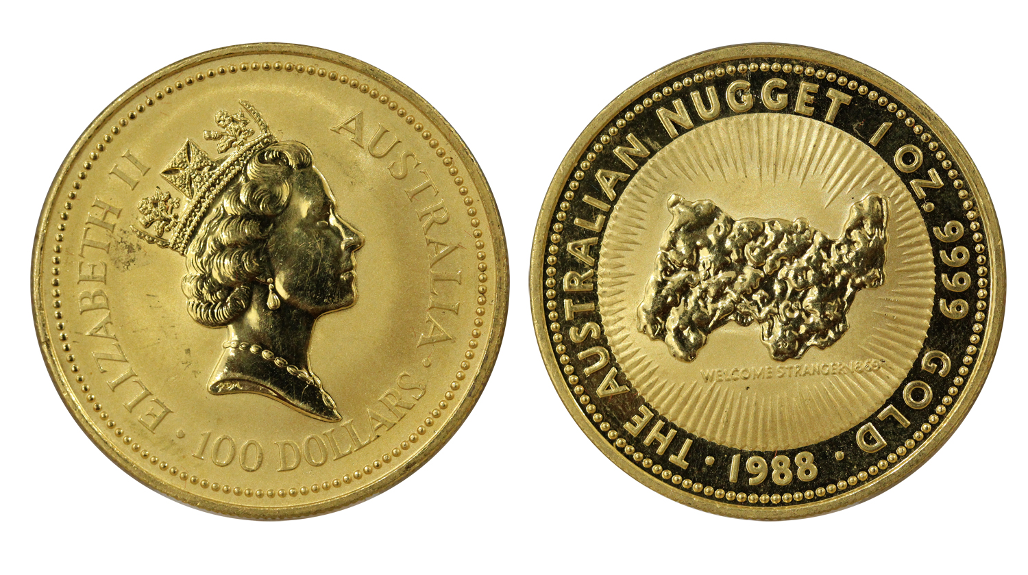 Nugget - 100 dollari di gr. 31,103 in oro 999/000