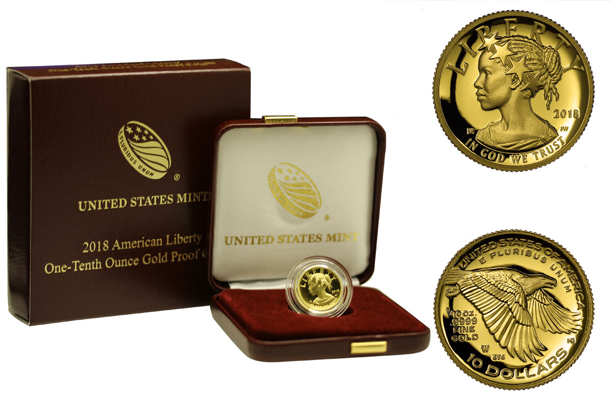 """Lady Liberty"" - 10 Dollari gr. 3,11 in oro 999/000"