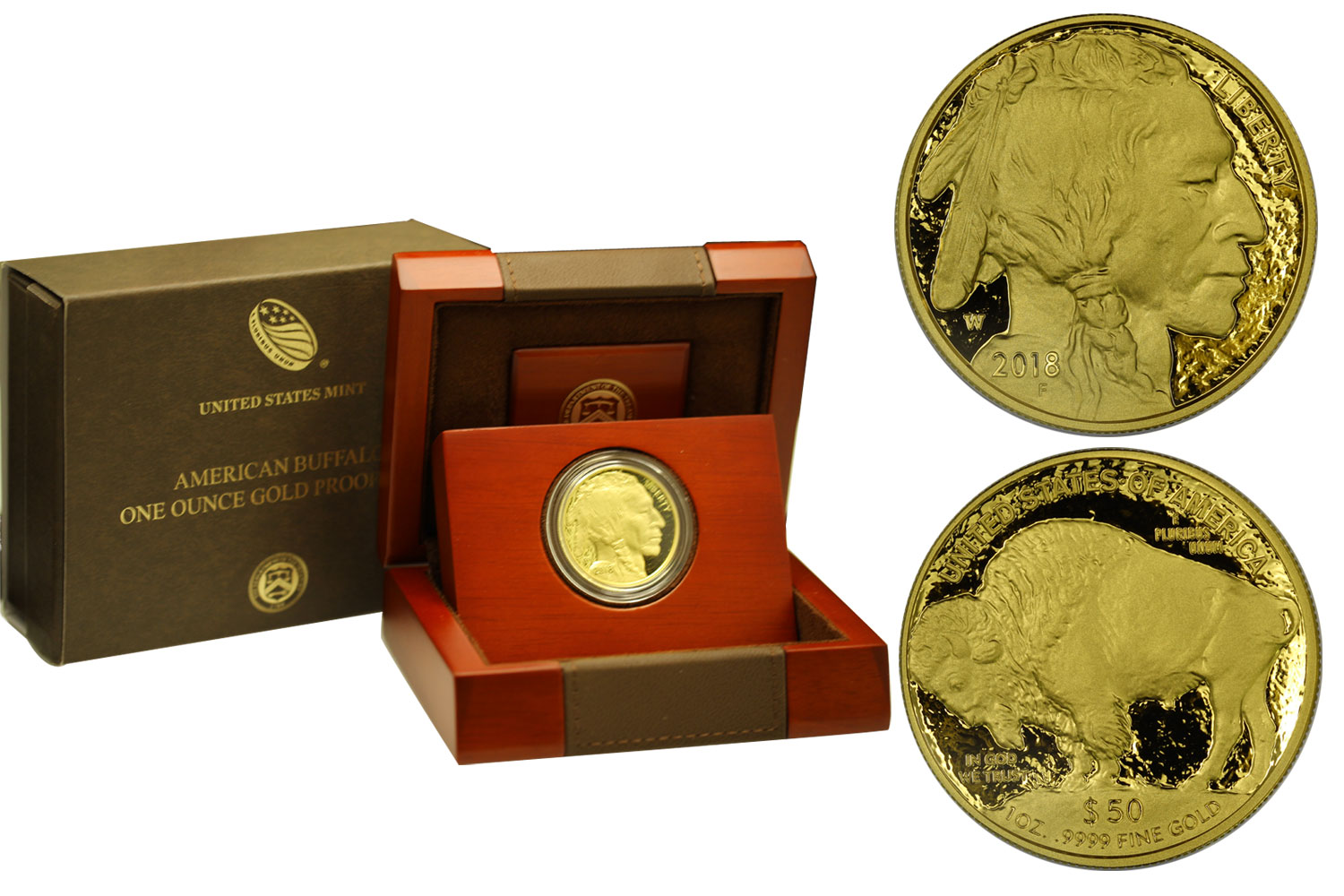 """Buffalo"" - 50 Dollari gr. 31,103 in oro 999/000"