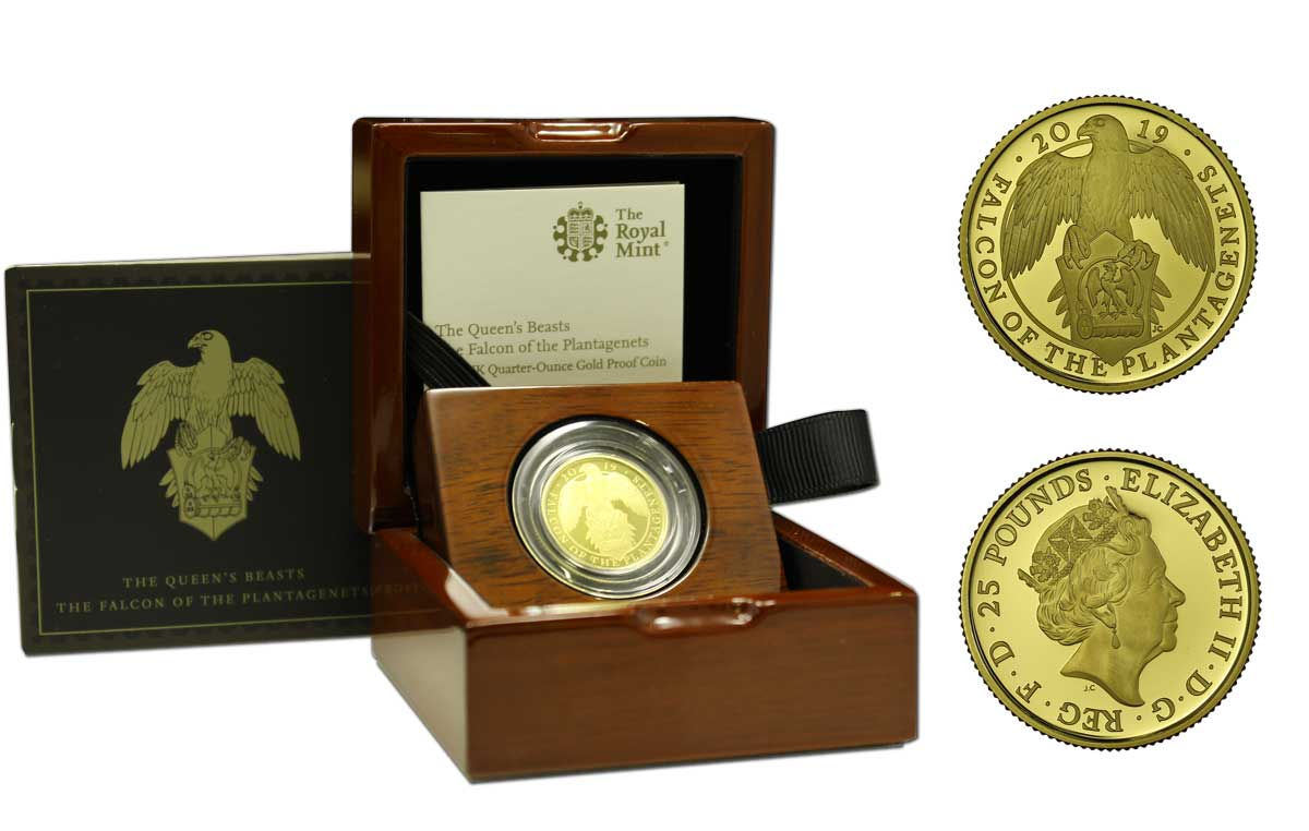 """Falco dei Plantageneti"" - 25 pounds gr. 7,80 in oro 999/000"