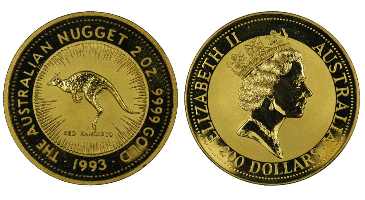 Canguro - 200 dollari gr. 62,206 in oro 999/000