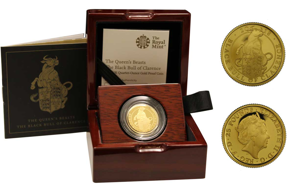 """Black Bull of Clarence"" - 25 pounds gr. 7,80 in oro 999/000"