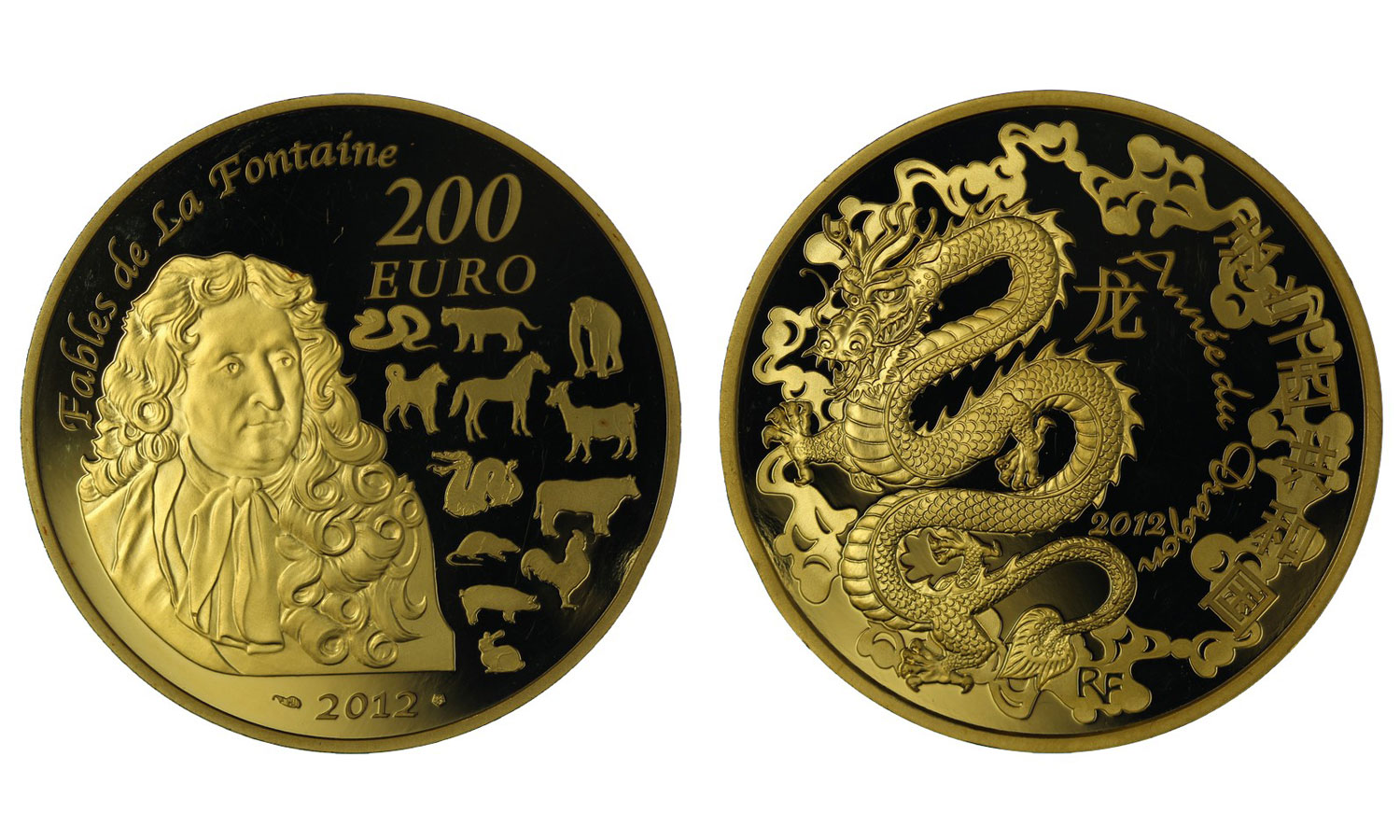 """Year of the Dragon"" - 200 euro gr. 31,10 in oro 999/000"