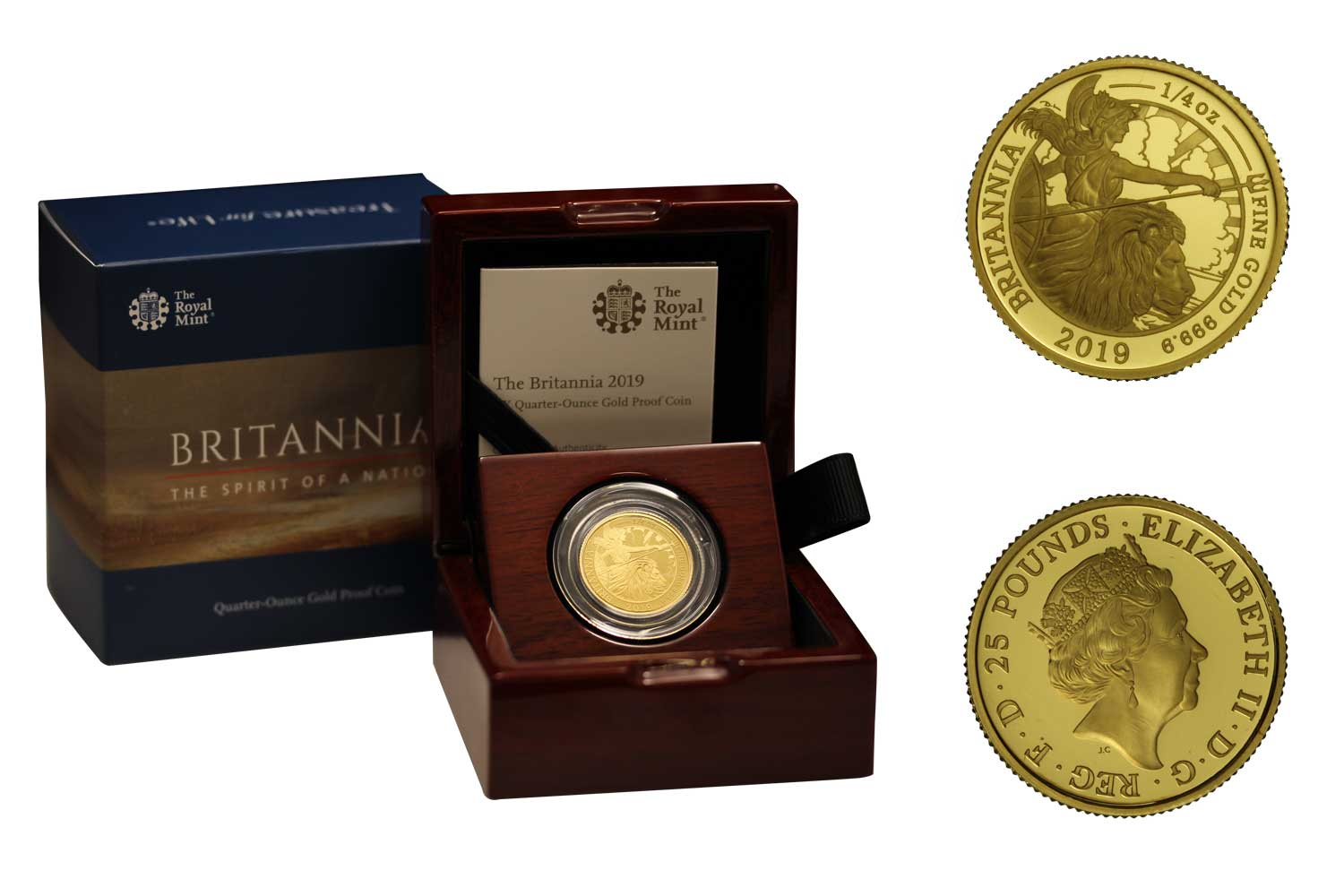 """Britannia"" - 25 pounds gr. 7,80 in oro 999/000"