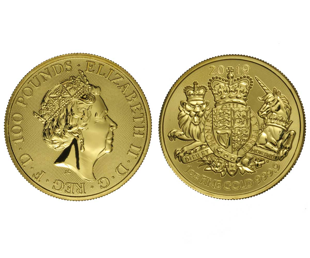 Royal Arms - 100 pounds gr. 31,103 in oro 999/000