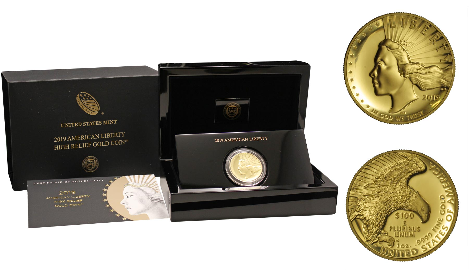 """Lady Liberty"" II emissione - 100 Dollari gr. 31,103 in oro 999/000"